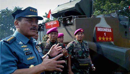 Marsetio saat gelar kekuatan TNI AL