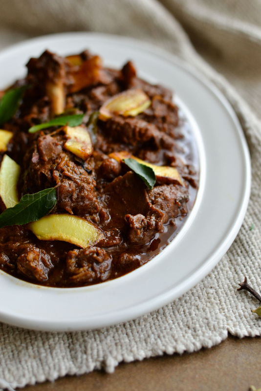 varutharacha duck curry   kerala style duck curry   nadan tharavu curry