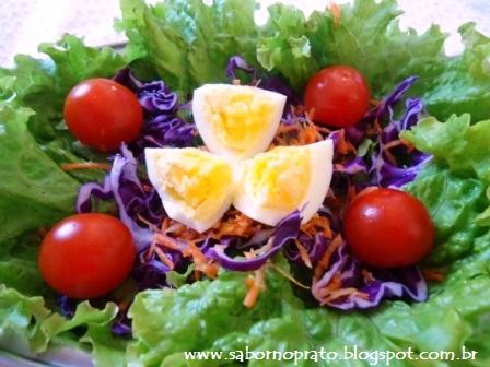 Salada simples de fazer.