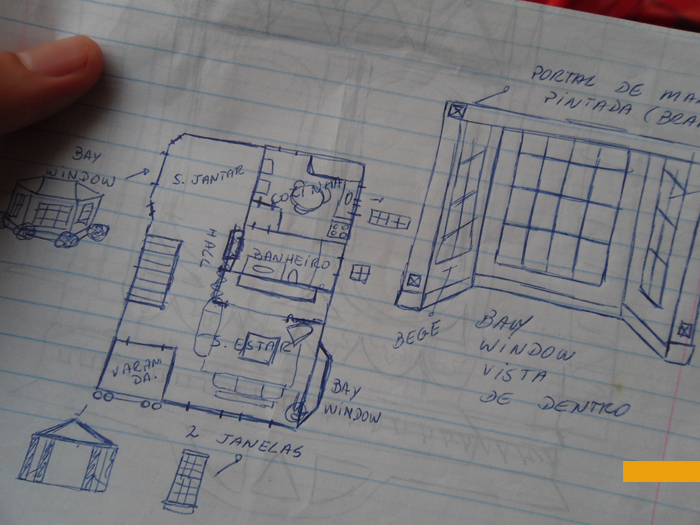 Disegno milanesa croquis - Casas americanas interior ...