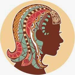 Logo zodiak bintang virgo