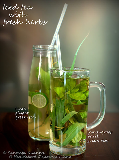 herb infused iced teas