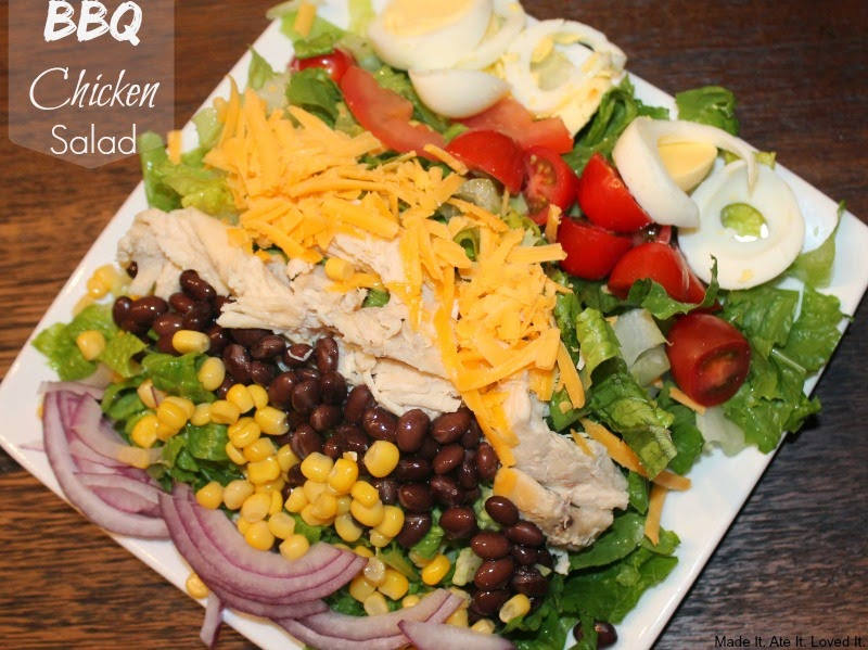 Made it ate it loved it easy bbq chicken salad for Easy salad ideas for bbq
