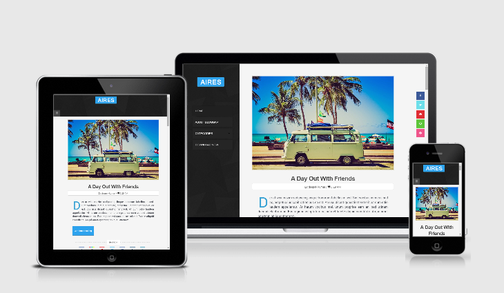Aires Blog Responsive Blogger Template Image