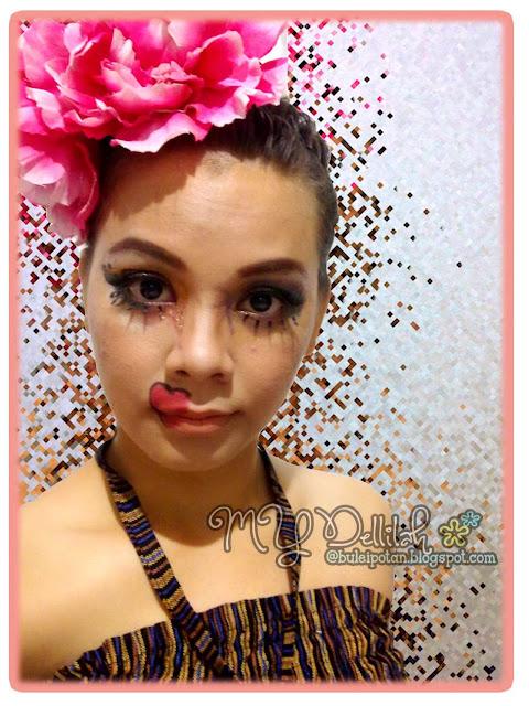 carnival inspired Makeup