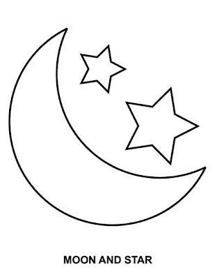 Moon and Stars Coloring Pages Printable