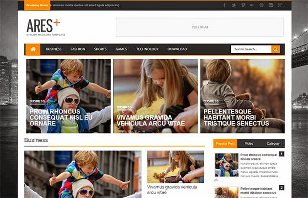Ares Responsive Blogger Template
