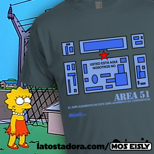 camiseta los simpson area 51