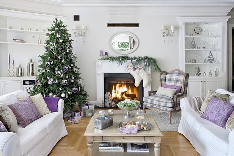 Decor me casas navide as una decoraci n cl sica en tonos for Decoracion casa navidena
