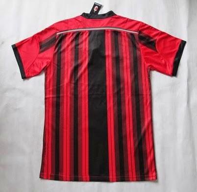 jersey go ac milan home official 2014-2015 kaos bola baju bola kostum bola murah