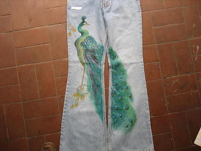 Hand Painted Denim Jeans