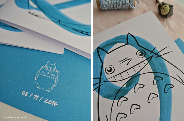 Its Not Serious Portfolio Update 11 Totoro Birthday Card