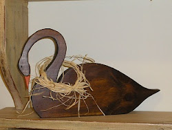 Cisne en madera