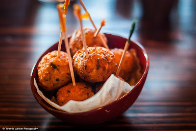 Goat cheese fritters