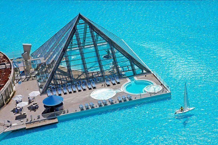 Artistic Land World 39 S Largest Pool San Alfonso Del Mar Resort In Chile