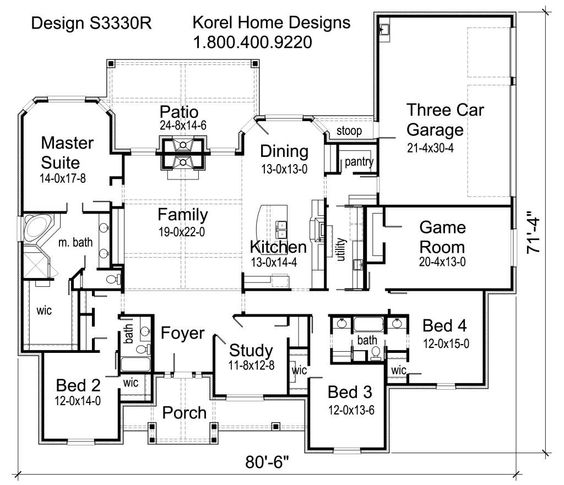 Civil and Architectural Engineering: 3330 sq ft House Plans