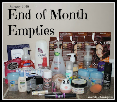 Beauty and Bath Product Empties