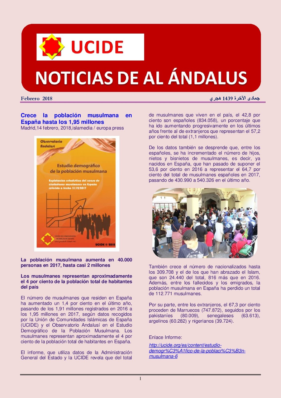 Noticiario de UCIDE y sus comunidades
