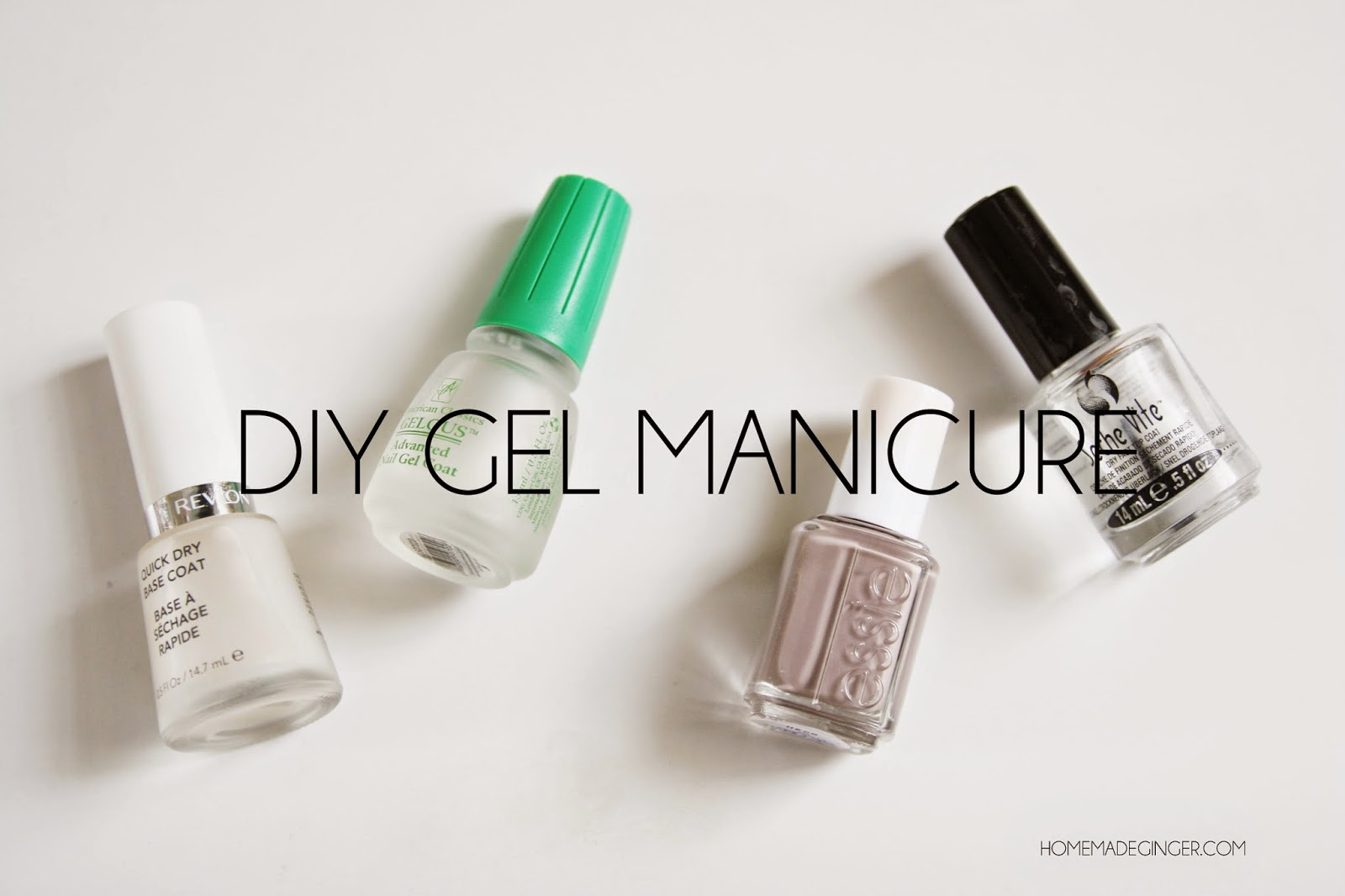 homemade ginger: DIY Gel Manicure