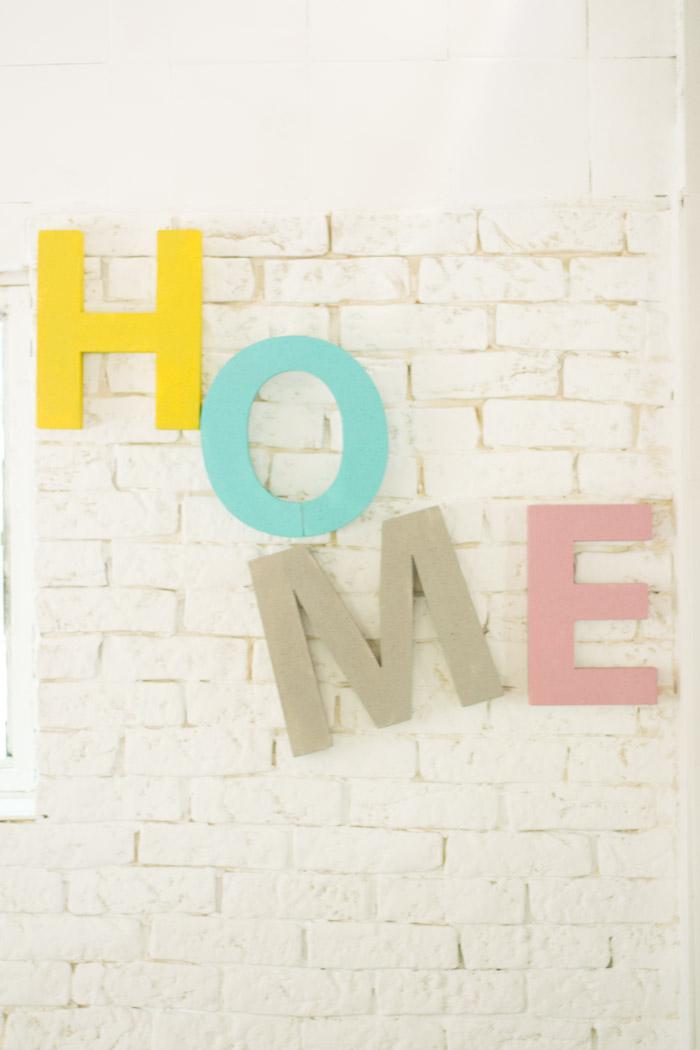 Haz tus propias letras para decorar