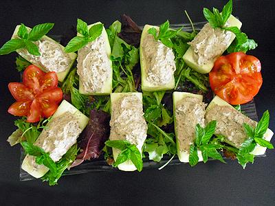 Concombres farcis au thon blogs de cuisine for Entree facile et pas chere