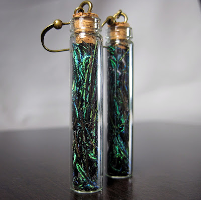 Glass Bottle Earrings