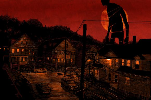daniel danger ilustrações fantasmagóricas misteriosas solitárias ambientes e sombras a noite