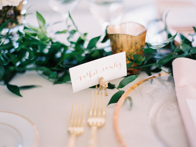 Gold Animal Place Card Holders Wedding Decor