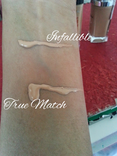 L'oreal True Match vs Infallible