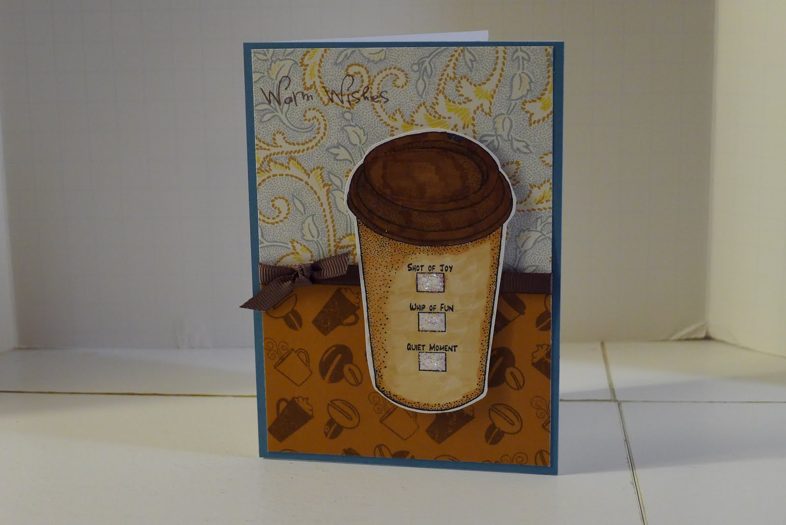 callahan country bugs coffee birthday card, non cricut card, Birthday card