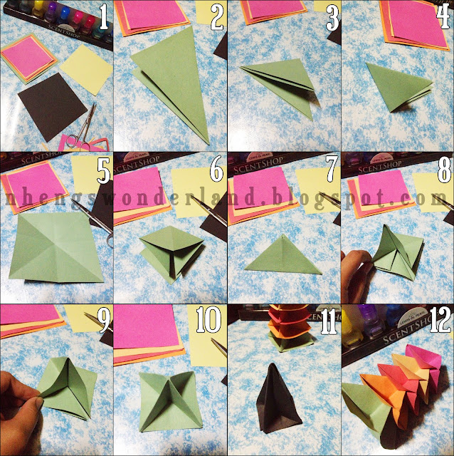 DIY Origami Christmas Tree Paper