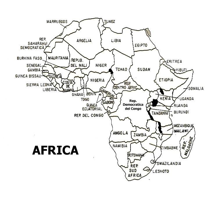 Mapa De Africa Localizado