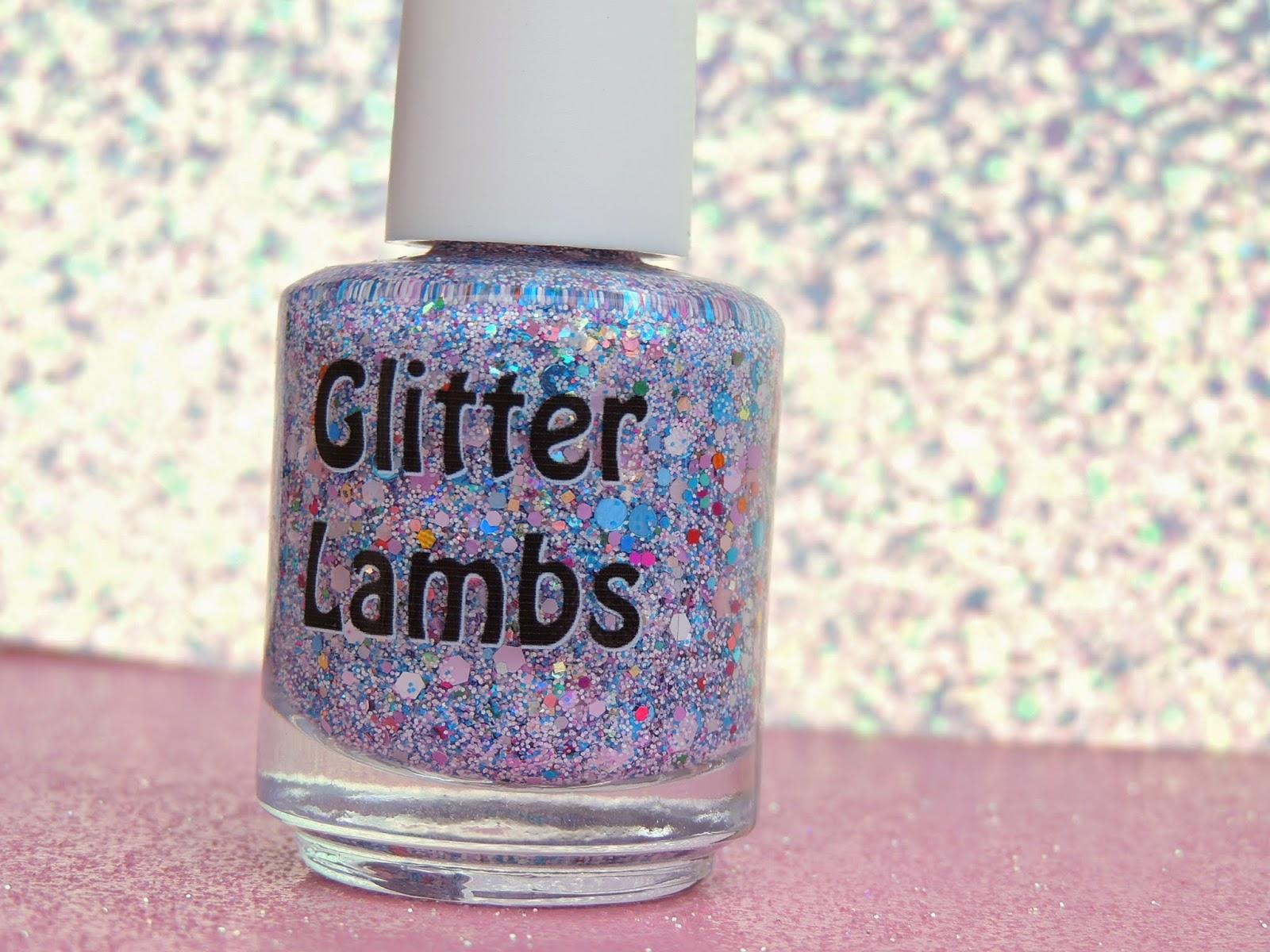 Piggy Bubble Bath  Glitter Topper Nail Polish  By Glitter Lambs