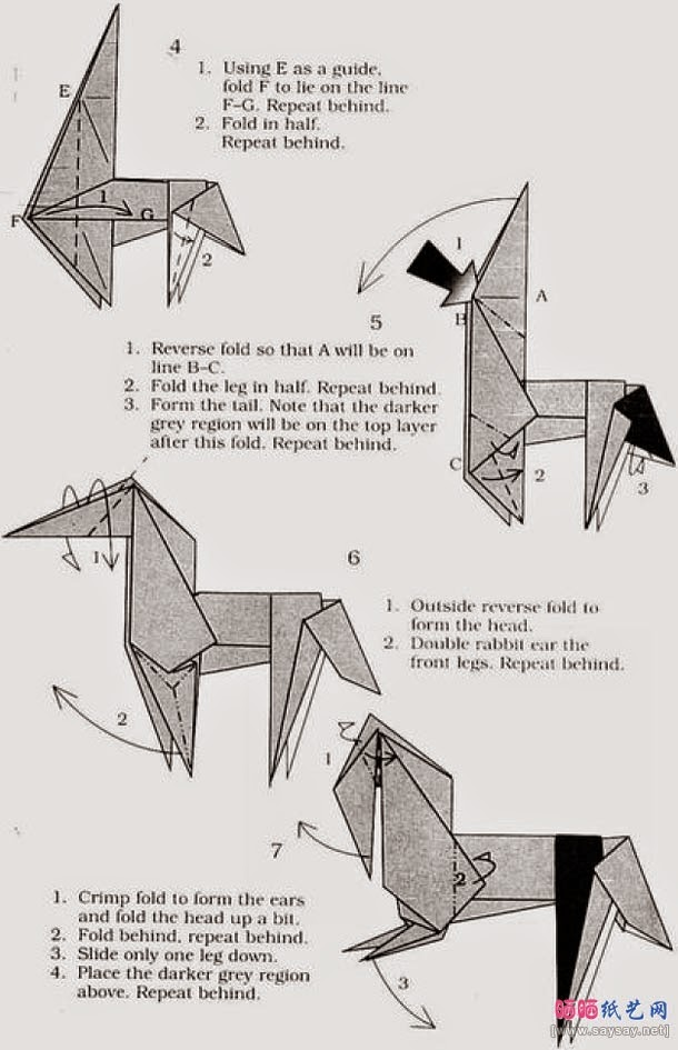 Origami Horse Instructions Origami Animation