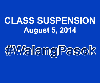 Class suspension August 5, 2014