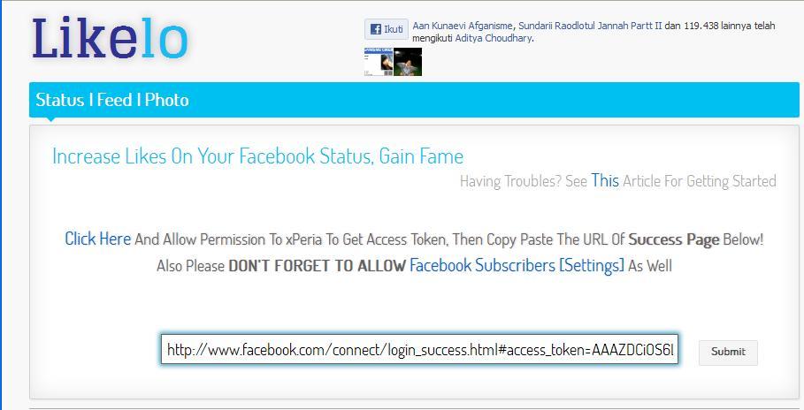 cara mudah biar status fb kamu dilike banyak orang menggunakan likelo