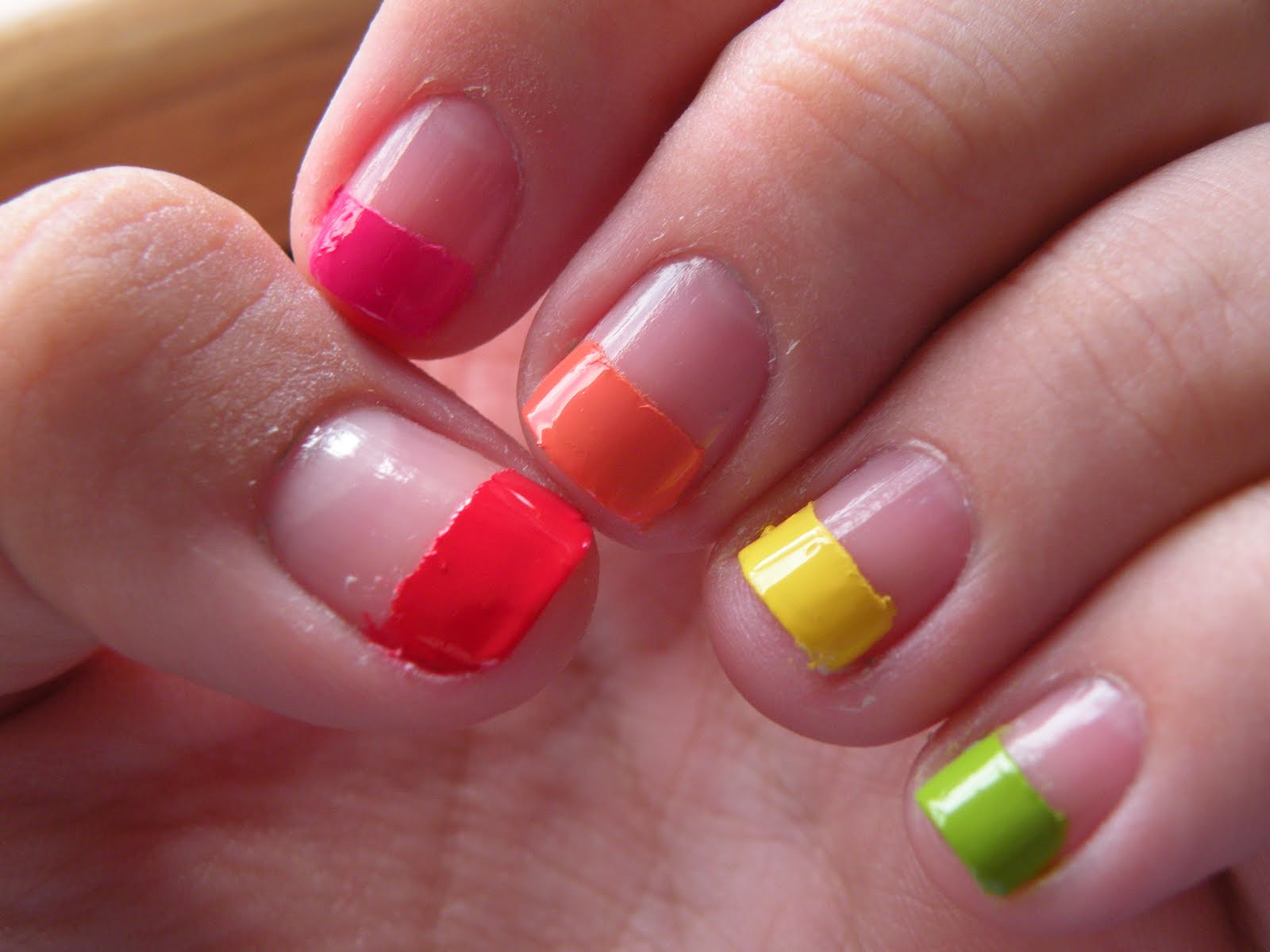 Lauras Nail Art Rainbow Nails