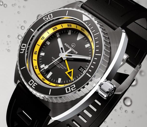 Aquadive - Bathysphere 100 GMT Turquoise Aquadive+Bathysphere+100+GMT+Yellow