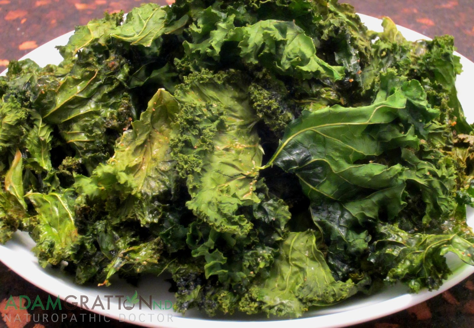 Recipe - Oven Baked Kale Chips | adamgrattonND