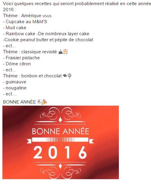 Recette 2016