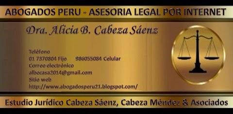 ABOGADOS PERU - ASESORIA LEGAL POR INTERNET