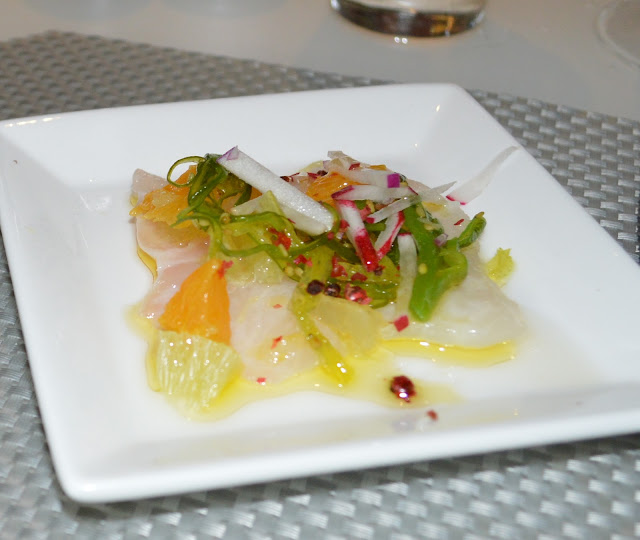 Black Sea Bass Crudo at the Mediterraneo Restaurant