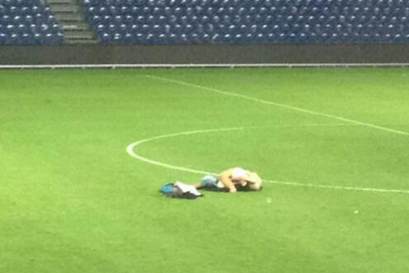 One couple decides to have sex in the middle of the pitch after the final whistle