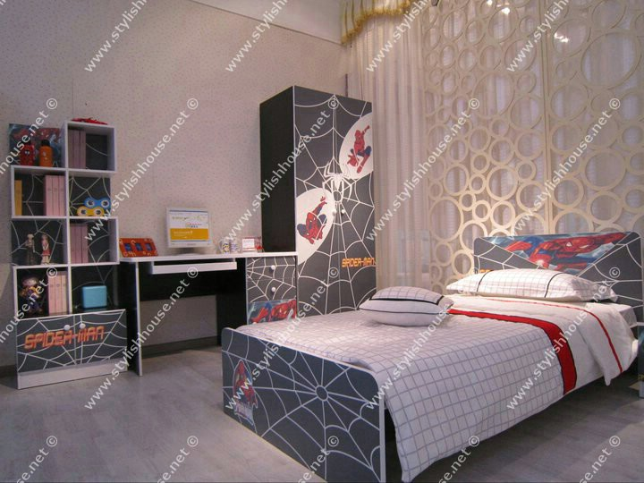 Spider man bed room set. stylish bedroom look