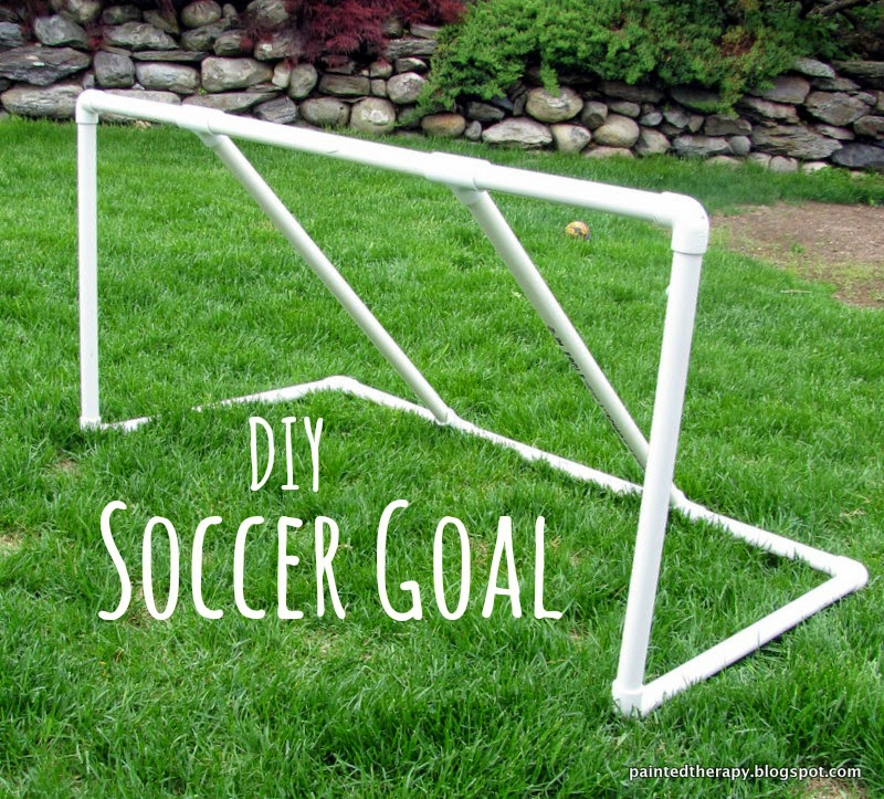 painted therapy diy soccer goal