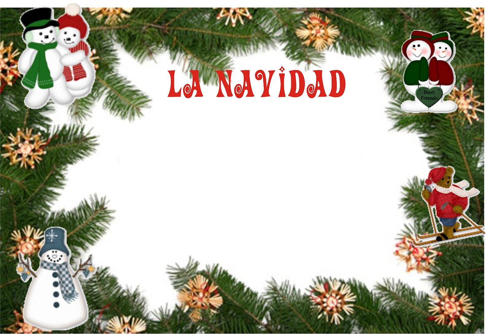Lindas caratulas dise o grafico significado de la navidad - Murales decorativos de navidad ...