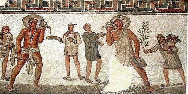 Mosaico de la antigua Roma