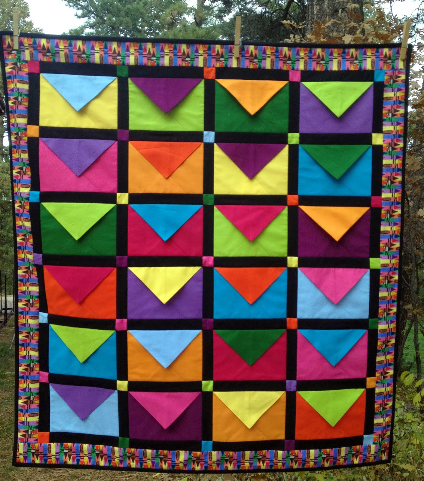Starwood Quilter: My Easy Envelope Quilt - COMPLETED! : envelope quilt pattern - Adamdwight.com
