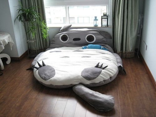 Gosh, This Might Sound Silly, But I Adore The Idea Of This Giant Totoro  Pillow Flopped Down In The Middle Of The Room. So Cute, And Would Bring Me  Right ...