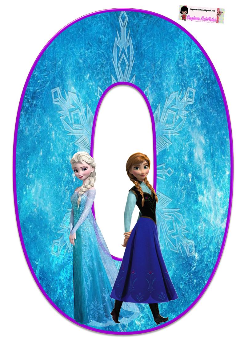 Frozen Alphabet Letters